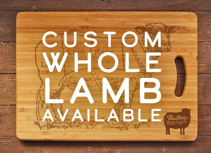 Custom whole lamb available